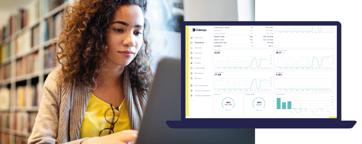The Dalenys dashboard offers an overall perspective enabling customised management