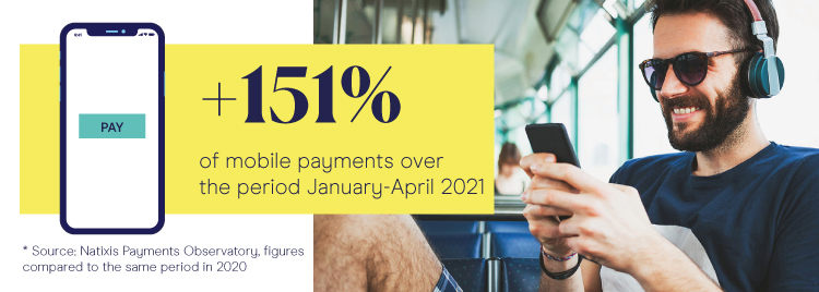 +151% of mobile payments over the period January-April 2021